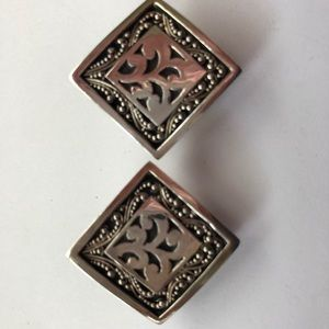 Lois Hill Sterling Silver Clip Earrings